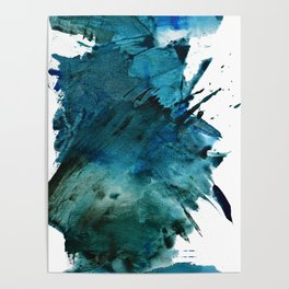 Scenic Route [2]: a pretty, minimal abstract piece in blue and green by Alyssa Hamilton Art Poster