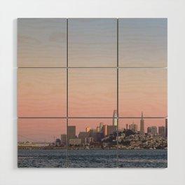 Sunset over San Francisco Wood Wall Art