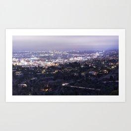 Los Angeles Nightscape No. 2 Art Print