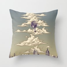 Go Ballooning! A Vintage Poster Recently! Throw Pillow