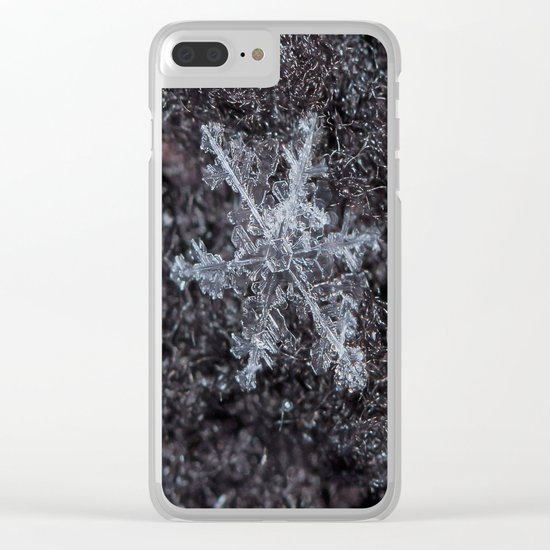Sowflake Closeup #2 Clear iPhone Case
