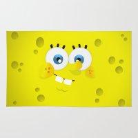 spongebob Area & Throw Rugs featuring SpongeBob by solostudio