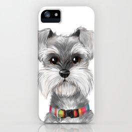 Moustache dog iPhone Case