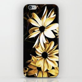 White Florals iPhone Skin