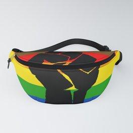 LGBT Pride Flag More Colors Raised Fist (More Pride) Fanny Pack