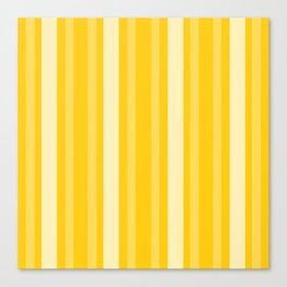Mustard Victorian Lady Stripe Canvas Print