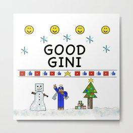 Good Gini ugly Christmas sweater Metal Print