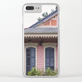 New Orleans Pink Creole Cottage Clear iPhone Case