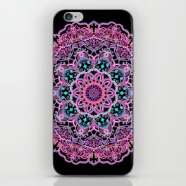 Mandala Project 281 | Pink Teal Purple Lace Mandala iPhone Skin