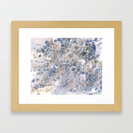 Pebbles in the Creek #2 Framed Art Print