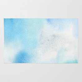Abstract Watercolor. Shining Ice Rug