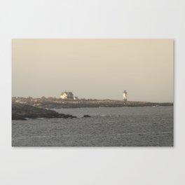Hazy Straitsmouth lighthouse Canvas Print