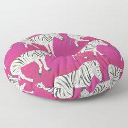 Zebra Print Floor Pillow