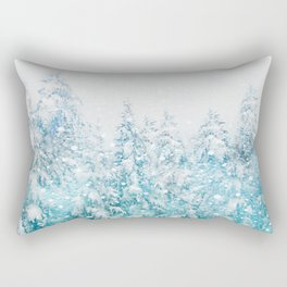 Snowy Pines Rectangular Pillow