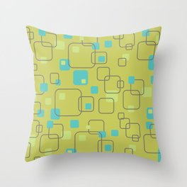 Vintage Square Abstract Pattern Throw Pillow