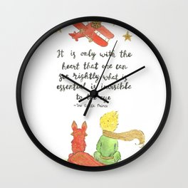 The Little Prince Quote art Wall Clock