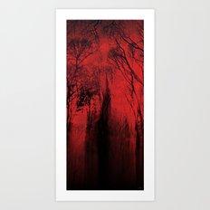 Blood red sky Art Print