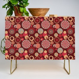 Circle Frenzy - Red Credenza