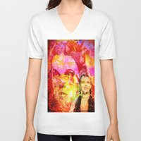 oz V-neck T-shirts featuring DOROTHY  OF OZ by Ganech joe