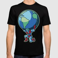 The Weight of the World Mens Fitted Tee Black MEDIUM