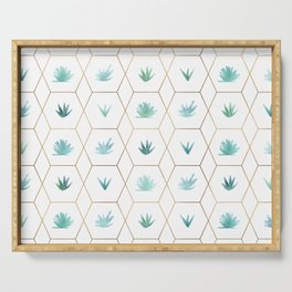 Geometric Succulents Serving Tray