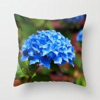 hydrangea Throw Pillows featuring Hydrangea by Mark Alder