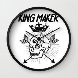 Warrior Skull Crown King Maker Historical Fantasy Wall Clock