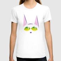 black cat T-shirts featuring Black cat  by AhaC