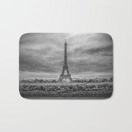 PARIS Eiffel Tower Thunderstorm Bath Mat