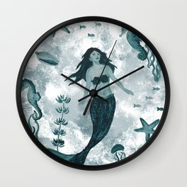Under the Sea (Teal) Part 1 Wall Clock