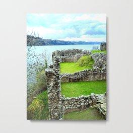 Ruins on the Loch Metal Print