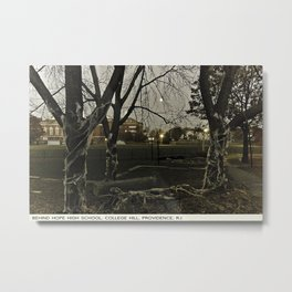 Providence Postcard Project: Behind Hope High School, College Hill Metal Print