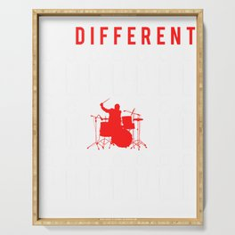 drum be different t-shirt for merry christmas Serving Tray