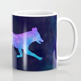 FOX IN SPACE // Animal Graphic Art // Watercolor Canvas Painting // Modern Minimal Cute Coffee Mug