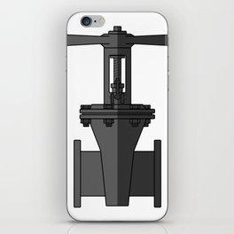 Gate valve in beautiful design Fashion Modern Style iPhone Skin