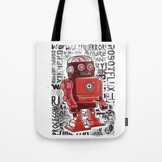 Robot Flux Tote Bag