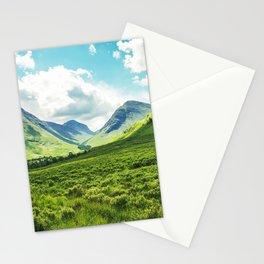 Lush Vegetation Mountain Valley  Stationery Cards