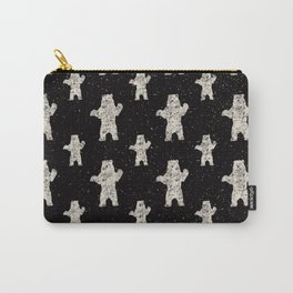 Polar Bear in Winter Snow on Black -Wild Animals-Mix and Match with Simplicity of Life Carry-All Pouch