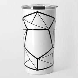 Black Line; Decorative Art Prints for Living Rooms Travel Mug