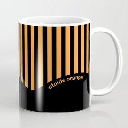 Etoide Jingga Orange Black Stripes Coffee Mug