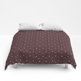 Pantone Red Pear and white Polka Dots Circle Pattern Comforters