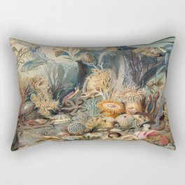 Ocean Life by James M Sommerville 1859 - Reproduction from original under CC0 Rectangular Pillow