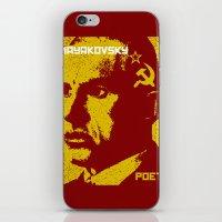 soviet iPhone & iPod Skins featuring Vladimir Mayakovsky, Soviet Poet by Adam Metzner