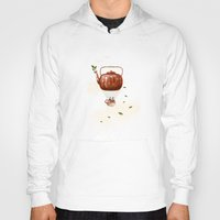 tea Hoodies featuring Tea for Two at Dusk by Paula Belle Flores
