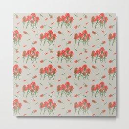 Floral-Indian Paintbrush-Gray Metal Print