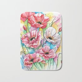 Iceland Poppies Bath Mat
