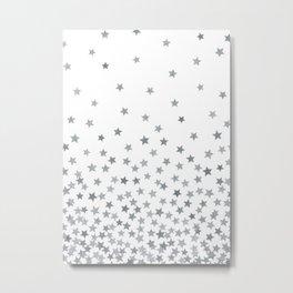 STARS SILVER Metal Print