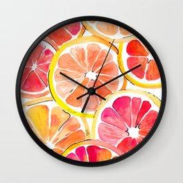 Citrus Blast Wall Clock