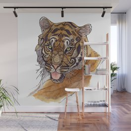 Immature Tiger Wall Mural