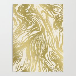 Marbled Gold Poster